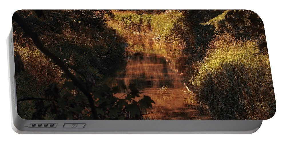 Autumn Portable Battery Charger featuring the photograph Autumn By The Argyle Creek by Thomas Woolworth