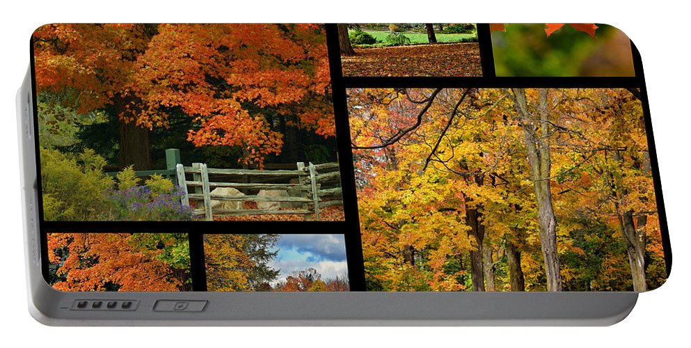 Autumn Portable Battery Charger featuring the photograph Autumn Collage by Maria Keady