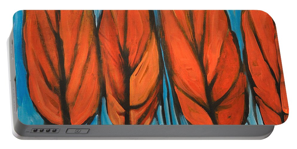 Fall Portable Battery Charger featuring the painting Autumn Dance by Tim Nyberg