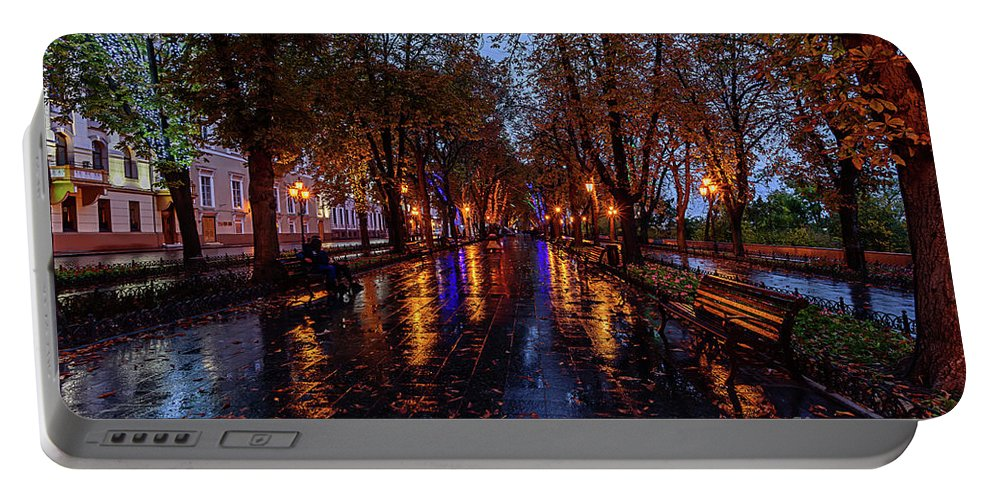 European Cityscape Portable Battery Charger featuring the photograph Promenade In Odessa by Viktor Birkus