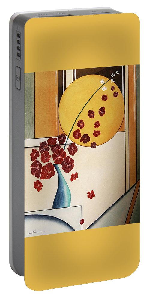 Watercolor Portable Battery Charger featuring the painting Autumn Fall by Francisco Ventura Jr