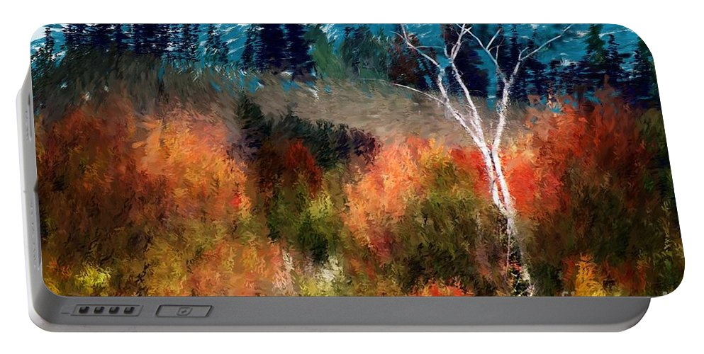 Digital Photo Portable Battery Charger featuring the digital art Autumn Feel by David Lane