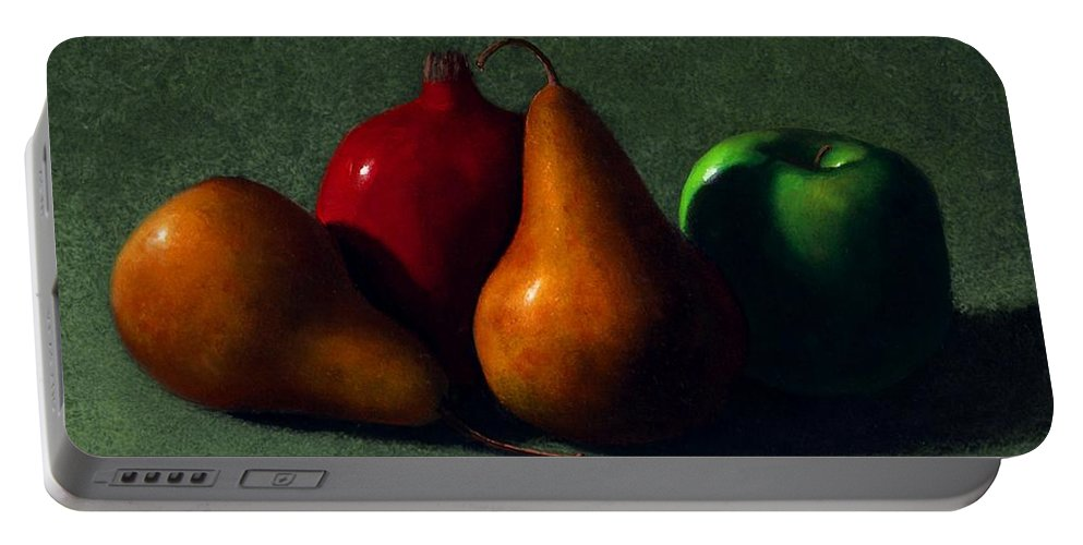 Still Life Portable Battery Charger featuring the painting Autumn Fruit by Frank Wilson