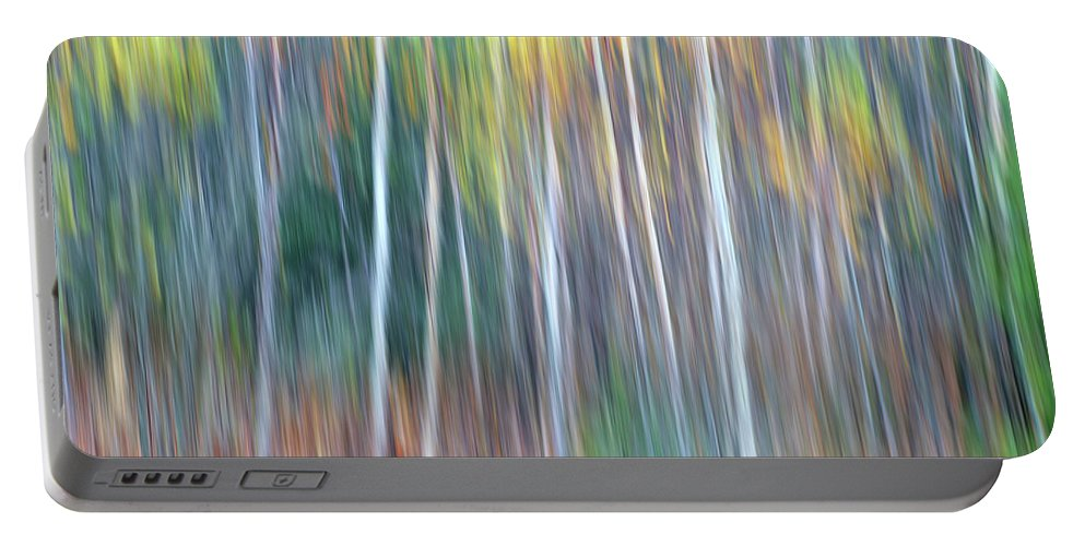 Forest Pastels Form An Autumn Impression Portable Battery Charger featuring the photograph Autumn Impression by Bill Morgenstern