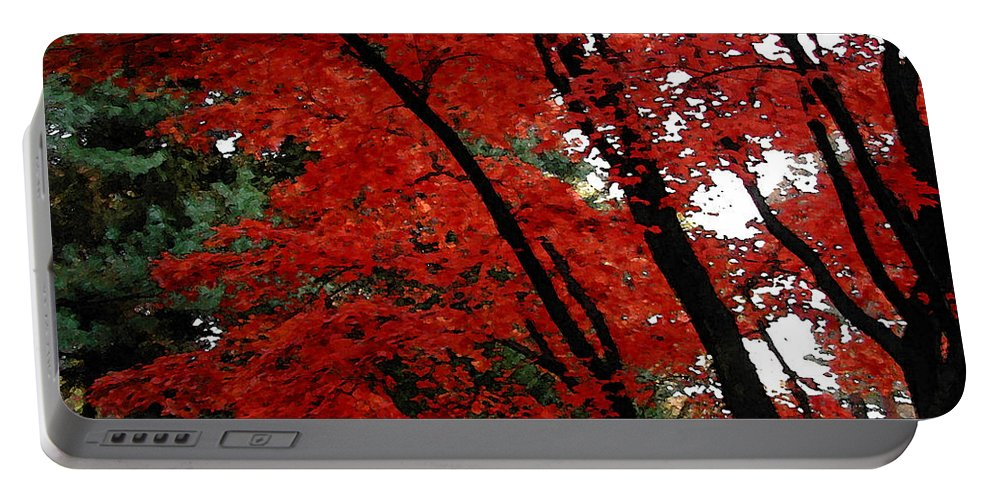 Autumn Portable Battery Charger featuring the photograph Autumn In New England by Melissa A Benson