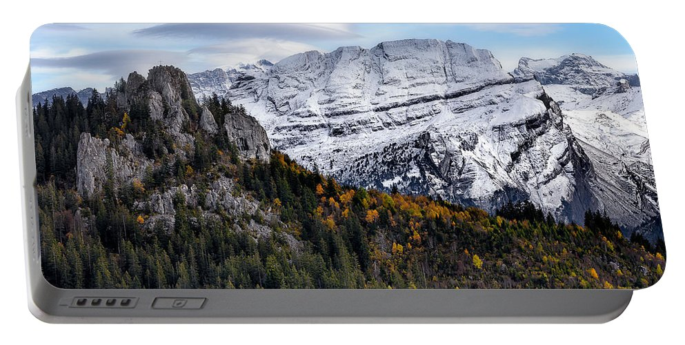 Mountians Portable Battery Charger featuring the photograph Autumn In Switzerland by Nedjat Nuhi
