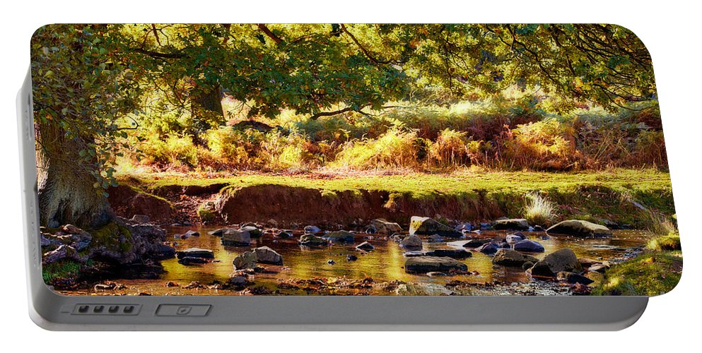 Color Portable Battery Charger featuring the photograph Autumn In The Valley by John Edwards