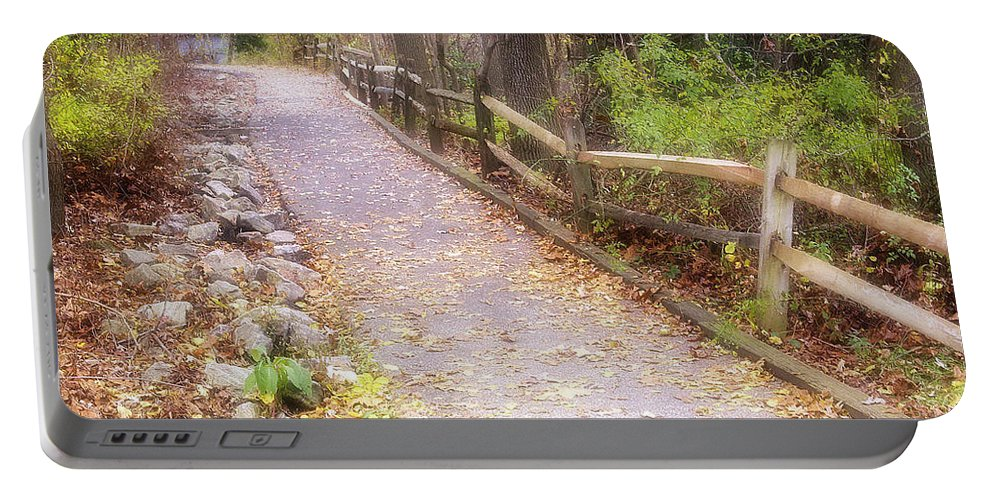 2d Portable Battery Charger featuring the photograph Autumn In The Park by Brian Wallace