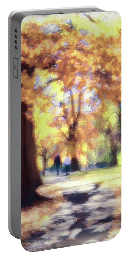 Autumn Portable Battery Charger featuring the photograph Autumn In The Park by Jeannine Walker
