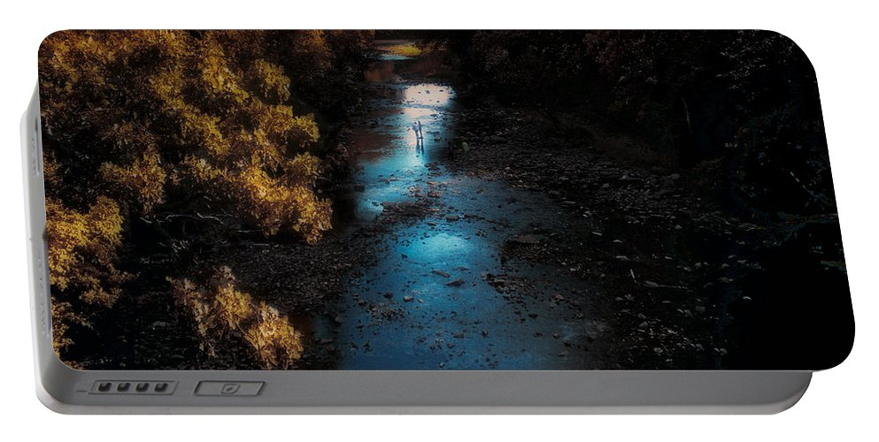 Autumn Portable Battery Charger featuring the photograph Autumn In The Tributary by Thomas Woolworth