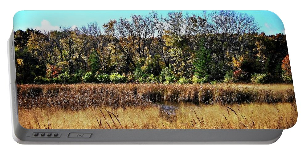 Photography Portable Battery Charger featuring the photograph Autumn In The Wetlands by Frank J Casella