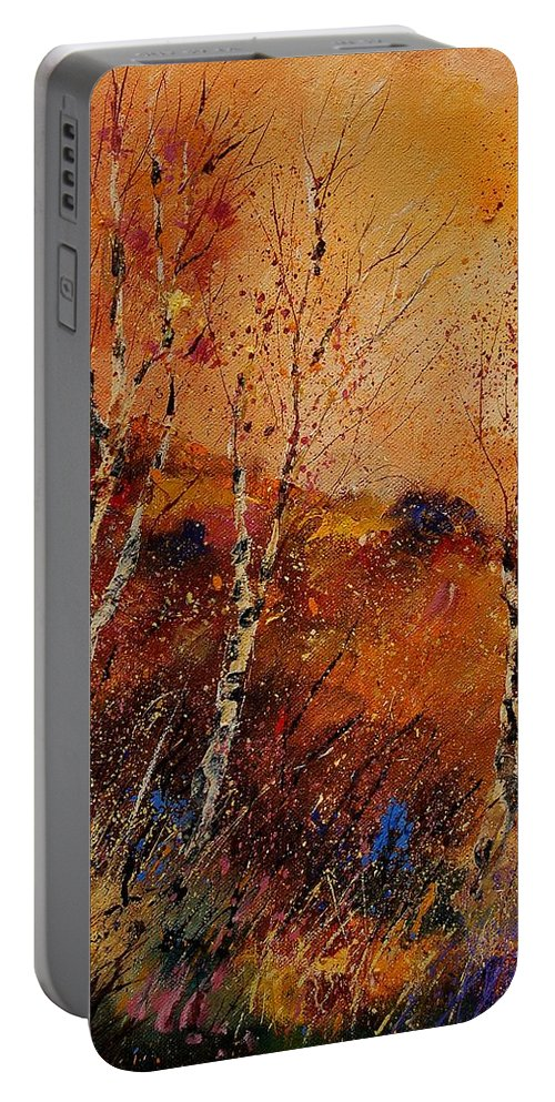 Tree Portable Battery Charger featuring the painting Autumn Landscape 45 by Pol Ledent