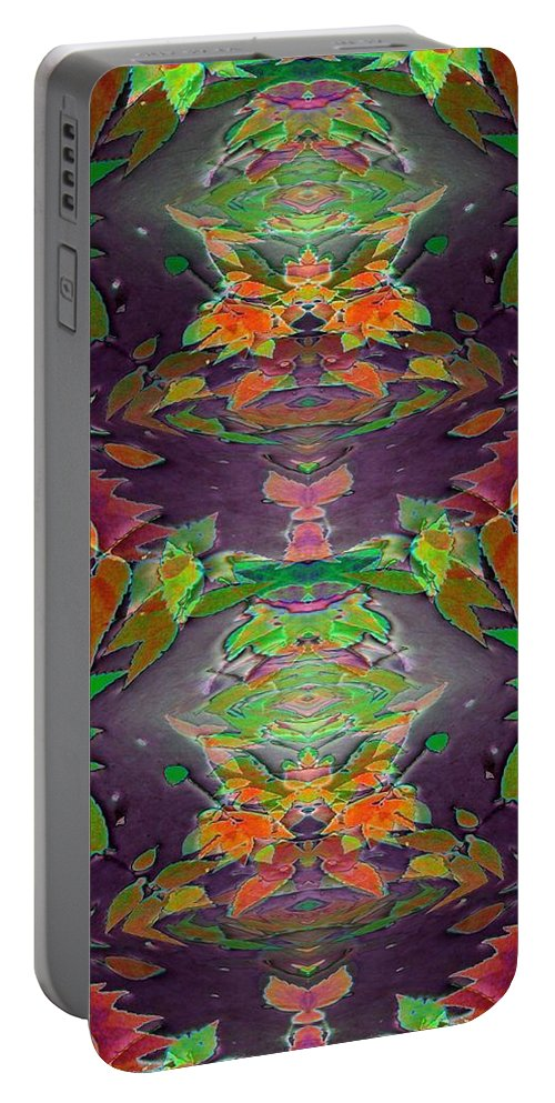 Autumn Portable Battery Charger featuring the photograph Autumn Leaf Delight by Tim Allen
