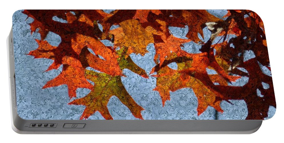 Autumn Portable Battery Charger featuring the digital art Autumn Leaves 20 by Jean Bernard Roussilhe