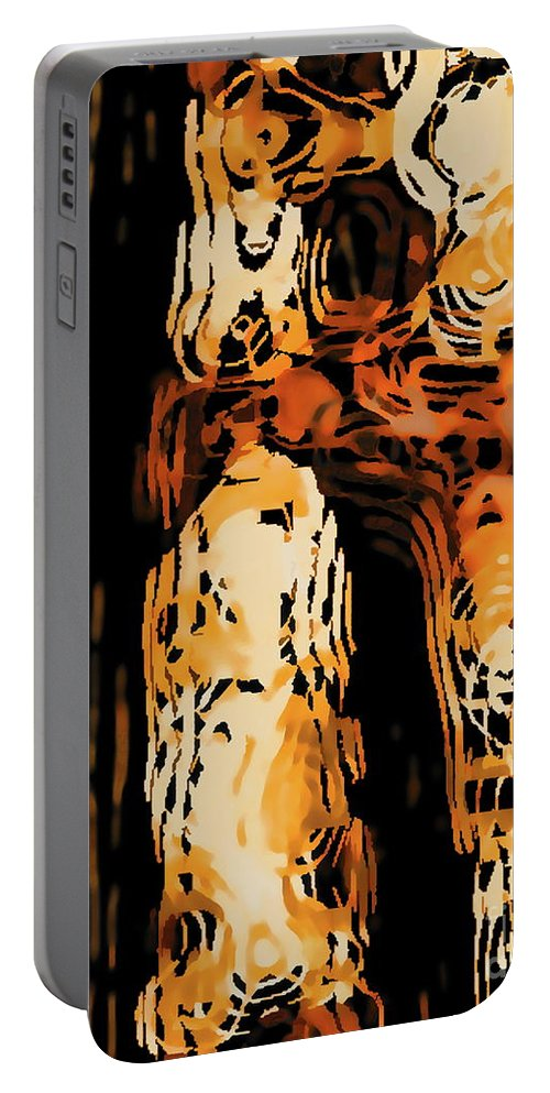 Digital Clone Painting Portable Battery Charger featuring the digital art Autumn Maples by Tim Richards