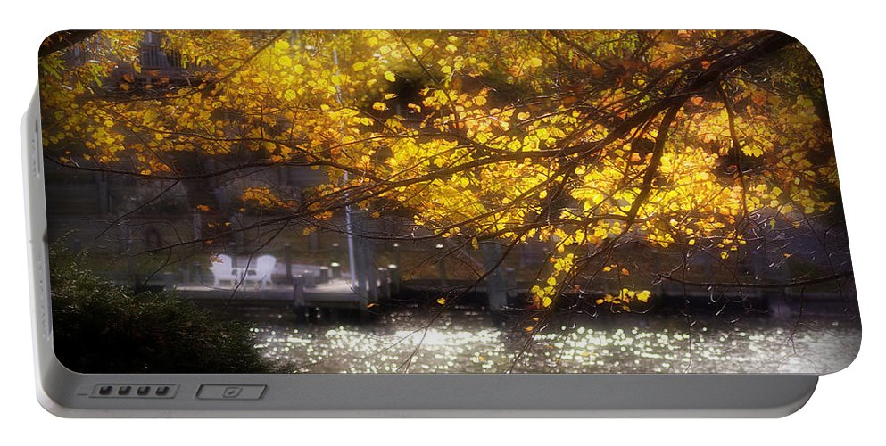 2d Portable Battery Charger featuring the photograph Autumn On The Cove by Brian Wallace