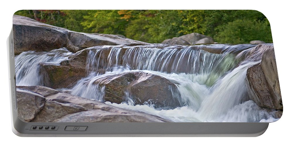 lower Falls Portable Battery Charger featuring the photograph Autumn On The Kancamagus by Paul Mangold
