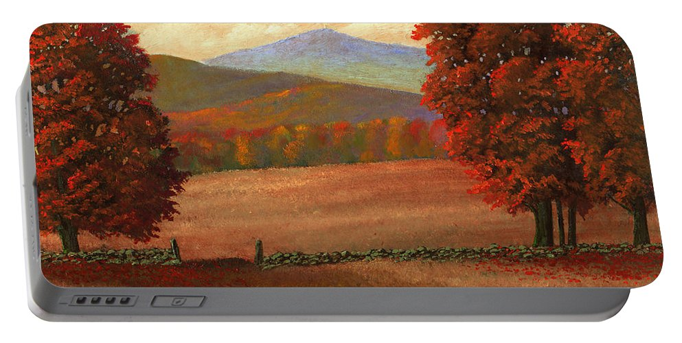 Autumn Portable Battery Charger featuring the painting Autumn Pastures by Frank Wilson