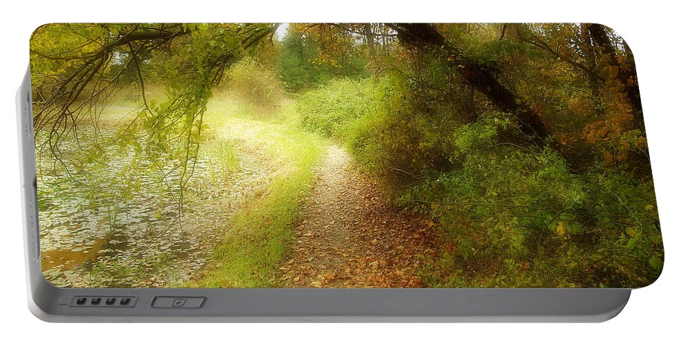 2d Portable Battery Charger featuring the photograph Autumn Path by Brian Wallace
