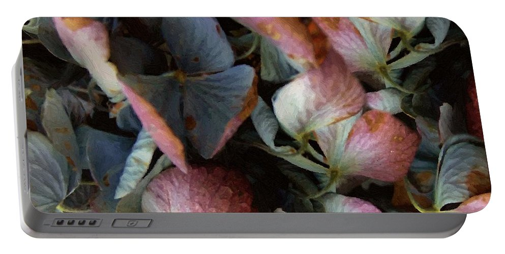 Hydrangea Portable Battery Charger featuring the painting Autumn Potpourri by RC DeWinter