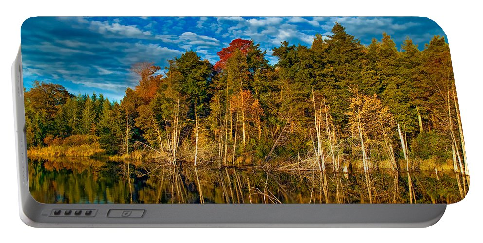 Landscape Portable Battery Charger featuring the photograph Autumn Reflection II by Steve Harrington