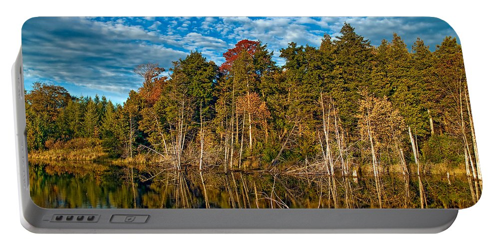 Reflection Portable Battery Charger featuring the photograph Autumn Reflection by Steve Harrington