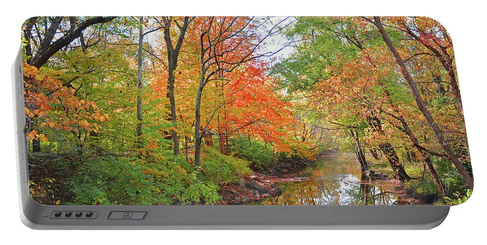 Autumn Reflections Portable Battery Charger featuring the photograph Autumn Reflections by Brittany Horton