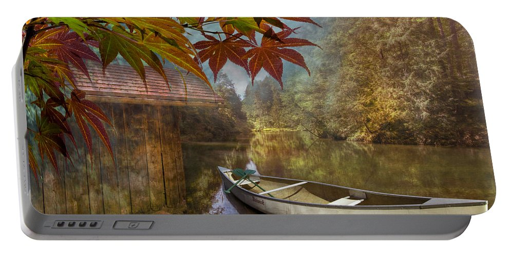 American Portable Battery Charger featuring the photograph Autumn Souvenirs by Debra and Dave Vanderlaan