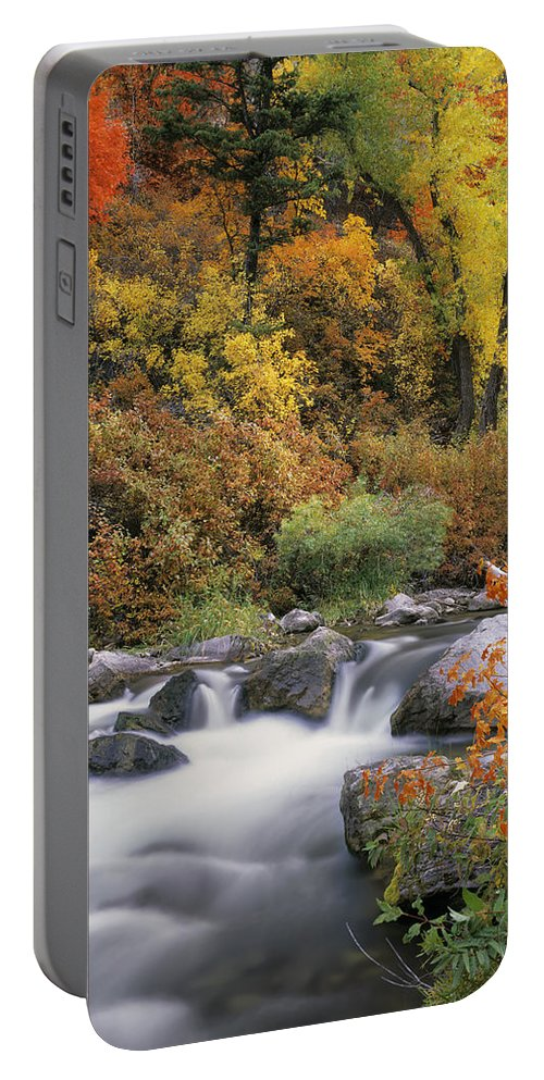 Palisades Creek Portable Battery Charger featuring the photograph Autumn Splendor by Leland D Howard