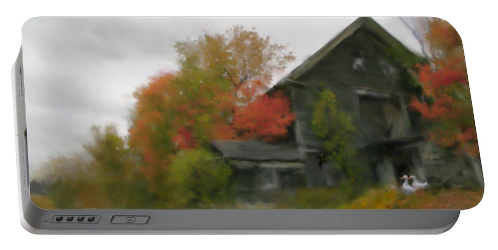 Nature Portable Battery Charger featuring the painting Autumn Stroll by Stephen Lucas