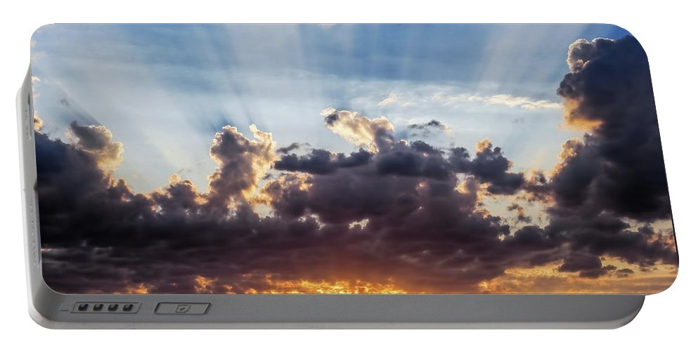 Clouds Portable Battery Charger featuring the photograph Autumn Sunrise 3 - Lyme Regis by Susie Peek