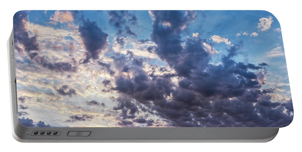 Clouds Portable Battery Charger featuring the photograph Autumn Sunrise - Lyme Regis by Susie Peek