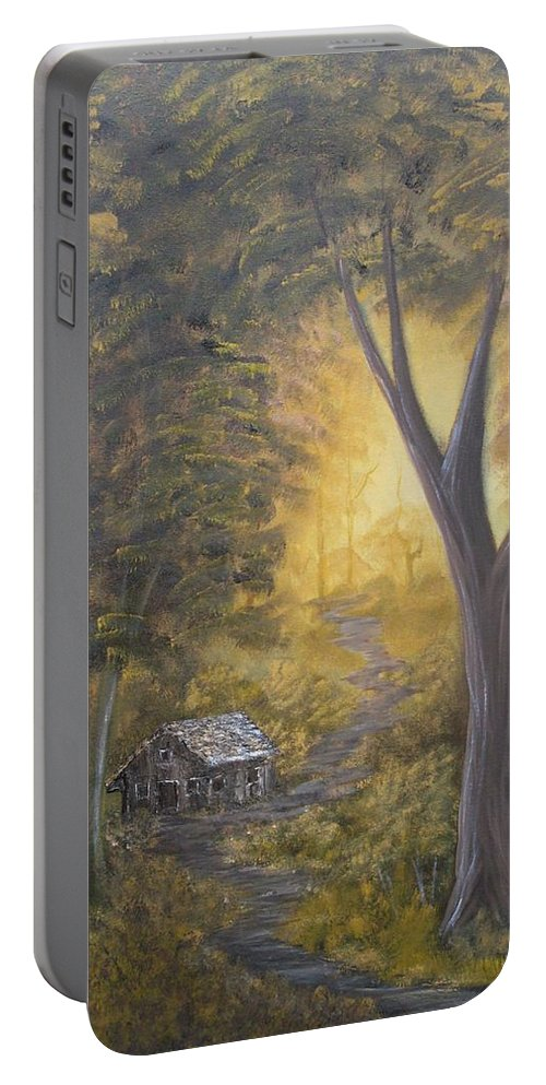Landscape Portable Battery Charger featuring the painting Autumn Sunshine by Ervin Sloan