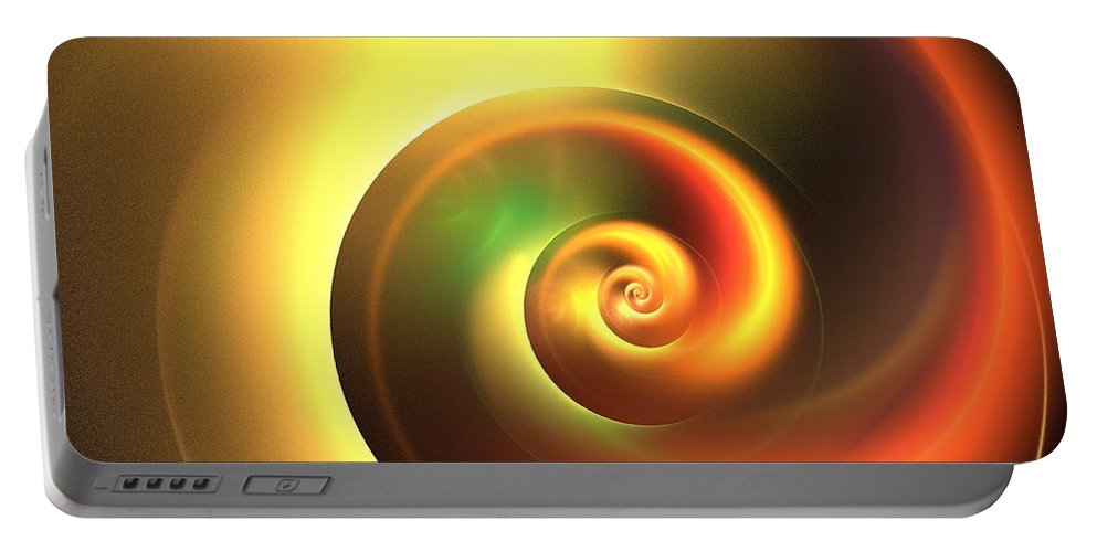 Apophysis Portable Battery Charger featuring the digital art Autumn Swirl by Kim Sy Ok