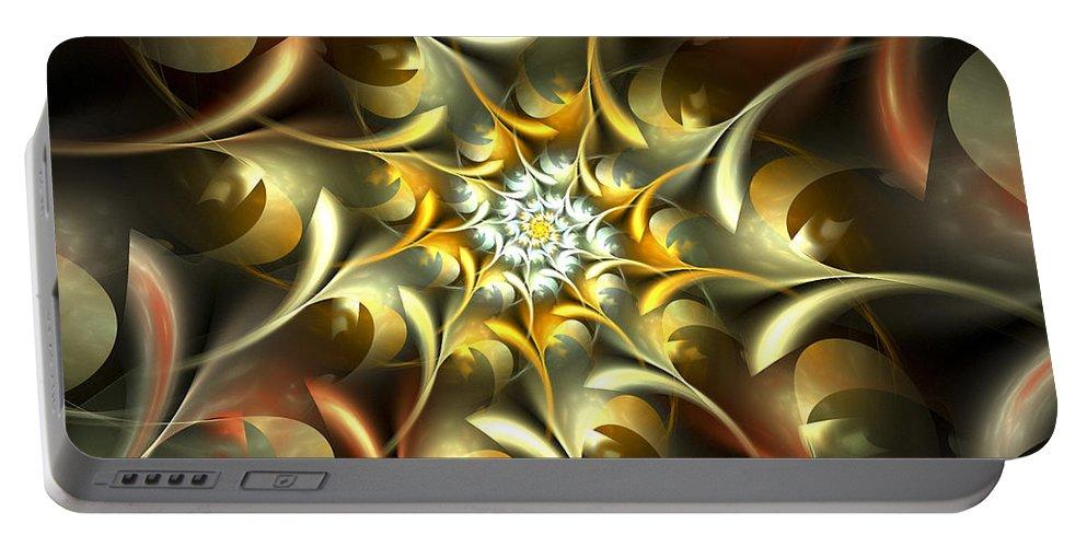 Apophysis Portable Battery Charger featuring the digital art Autumn Treasures by Amorina Ashton