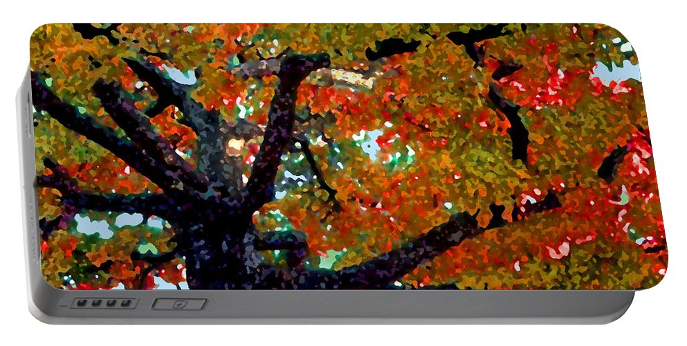 Fall Portable Battery Charger featuring the photograph Autumn Tree by Steve Karol