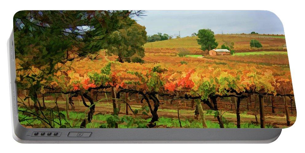 Vines Portable Battery Charger featuring the photograph Autumn Vines by Douglas Barnard