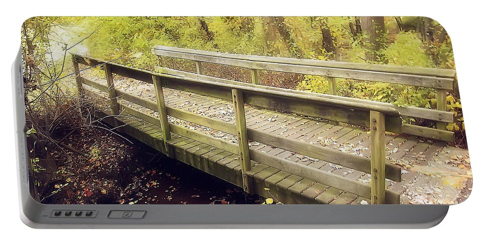 2d Portable Battery Charger featuring the photograph Autumn Walk by Brian Wallace