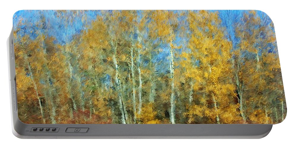 Portable Battery Charger featuring the photograph Autumn Woodlot by David Lane