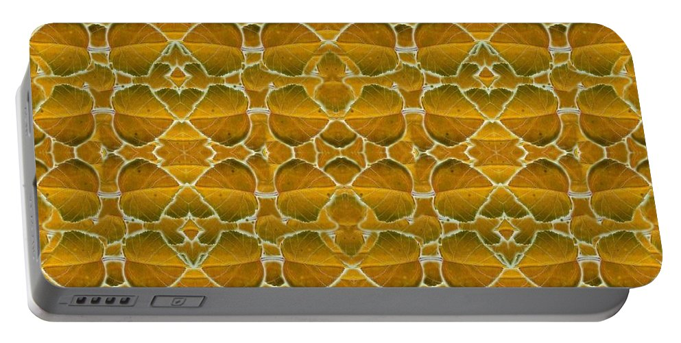 Autumn Portable Battery Charger featuring the digital art Autumnal In Earth Tones by Helena Tiainen