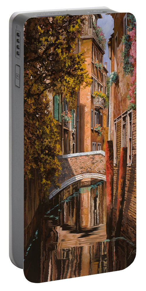 Venice Portable Battery Charger featuring the painting autunno a Venezia by Guido Borelli