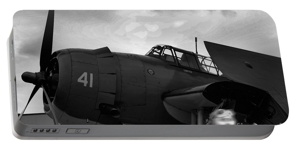 Tbf-avenger Portable Battery Charger featuring the photograph Avenger Ghost Flight by Tommy Anderson