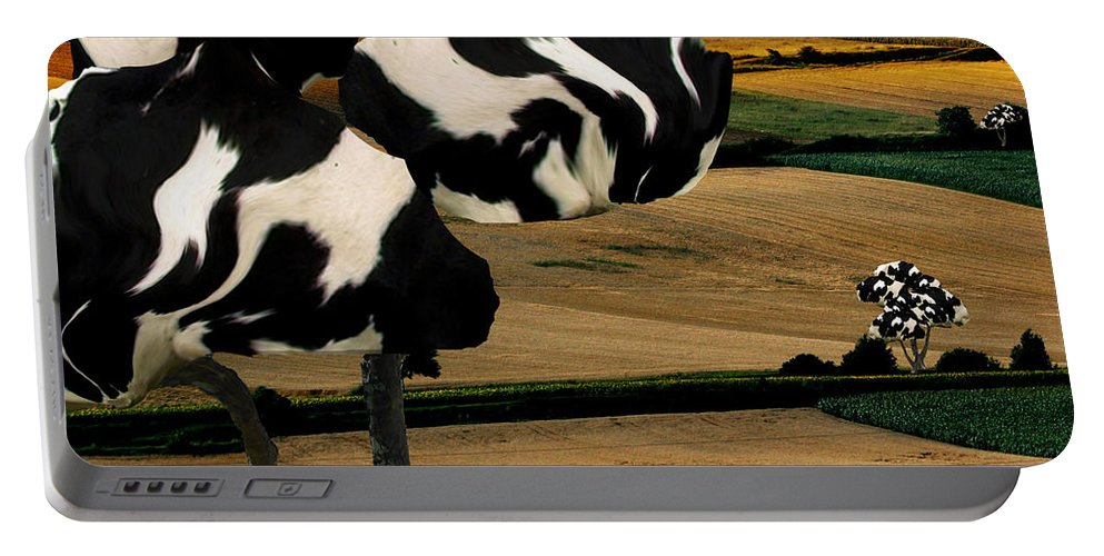 Cow Portable Battery Charger featuring the photograph Avenue by Katherine Pearson