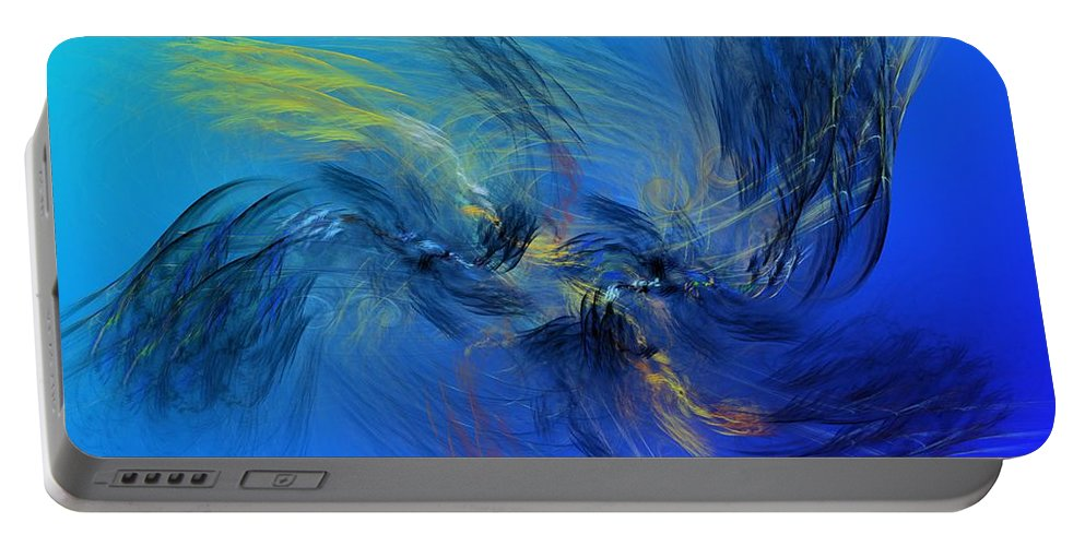Fine Art Portable Battery Charger featuring the digital art Avian Dreams 4 - Mating Rituals by David Lane