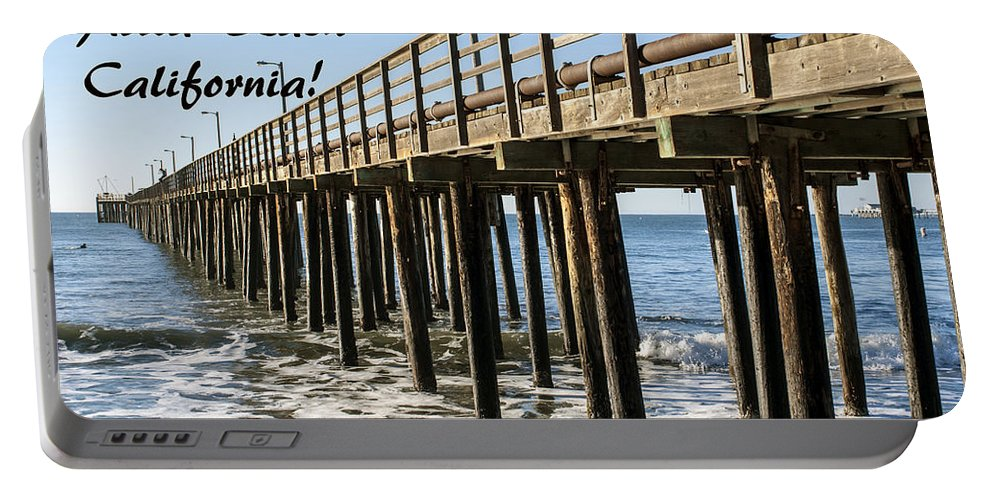 Avila Pier Avila Beach California Portable Battery Charger featuring the painting Avila Pier Avila Beach California by Barbara Snyder