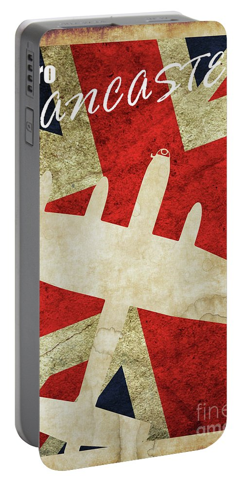 Avro Lancaster Portable Battery Charger featuring the digital art Avro Lancaster Vintage by J Biggadike