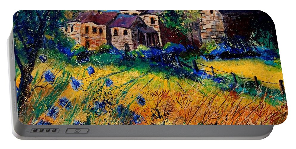 Tree Portable Battery Charger featuring the painting Awagne 67 by Pol Ledent