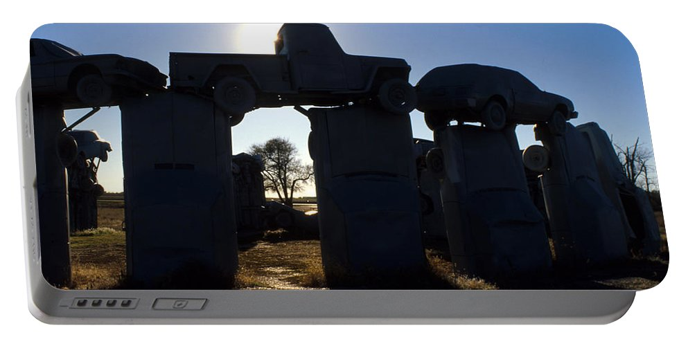 Car Henge Portable Battery Charger featuring the photograph Awaiting The Aliens by Jerry McElroy