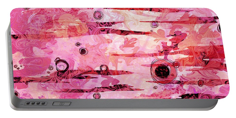 Abstract Portable Battery Charger featuring the digital art Awakened by Rachel Christine Nowicki