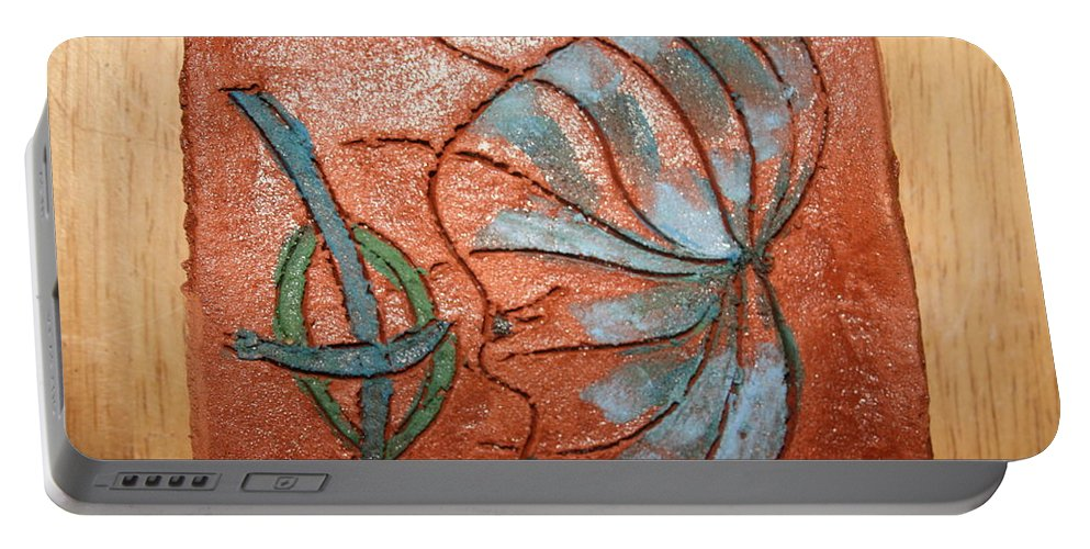 Jesus Portable Battery Charger featuring the ceramic art Awash - Tile by Gloria Ssali